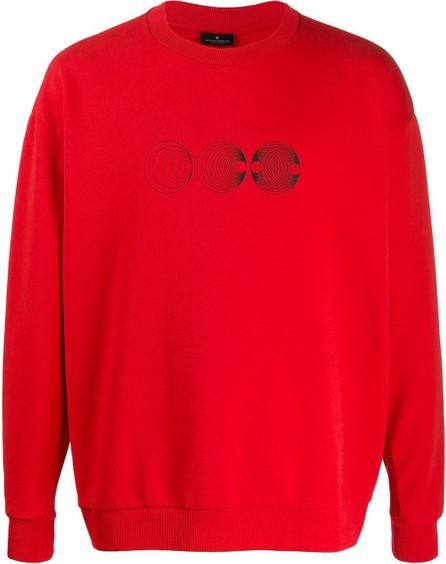 Marcelo Burlon Linear sphere-print crew neck sweatshirt