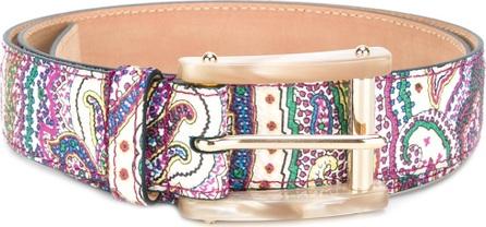Etro floral print belt