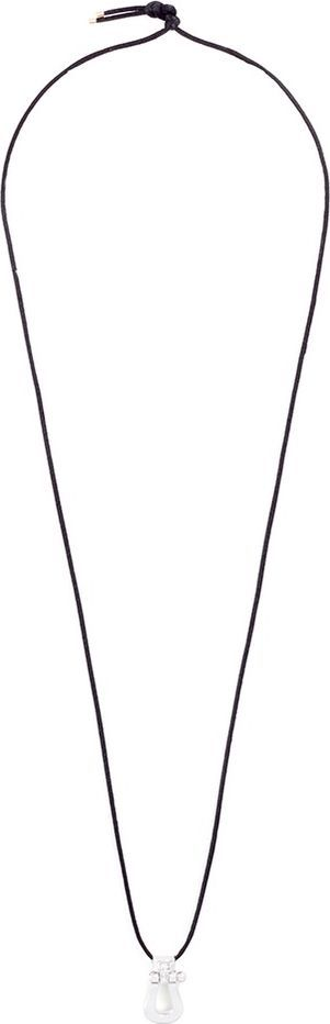 Fred 'Force 10' diamond 18k white gold pendant cord necklace