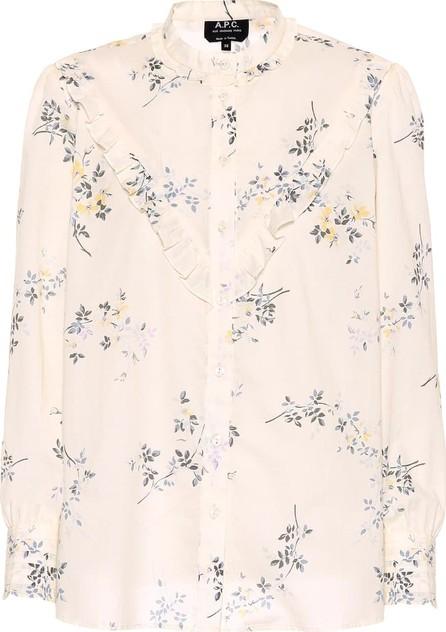 A.P.C. Polly printed cotton top