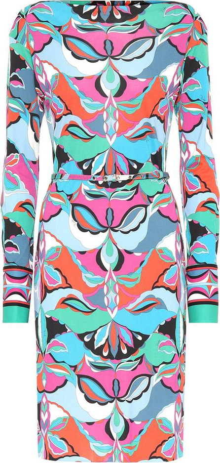 Emilio Pucci Printed silk-blend dress