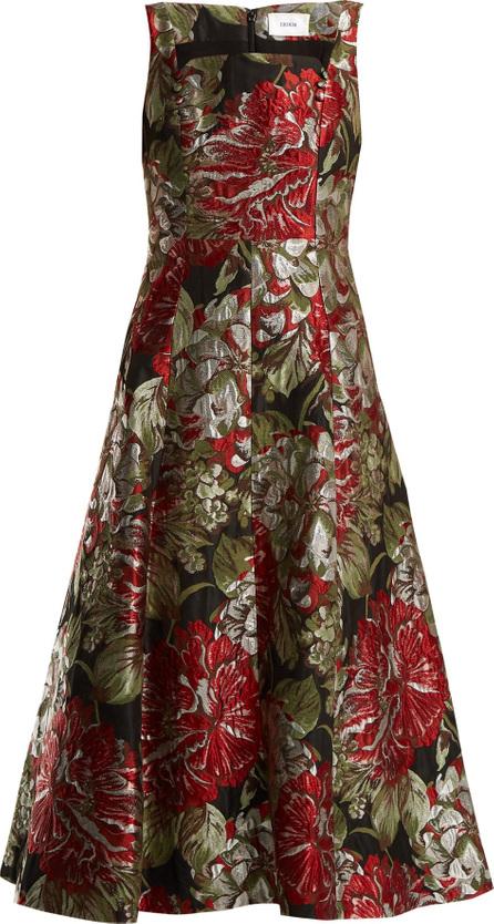 Erdem Polly flower-jacquard dress