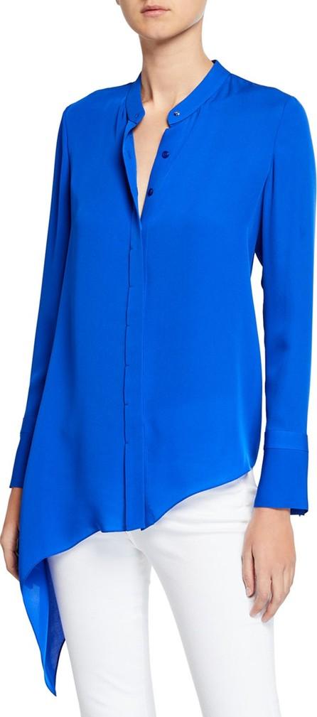 3a596c2eca784a Elie Tahari Chandana Ruffled V-Neck Long-Sleeve Silk Blouse - Mkt