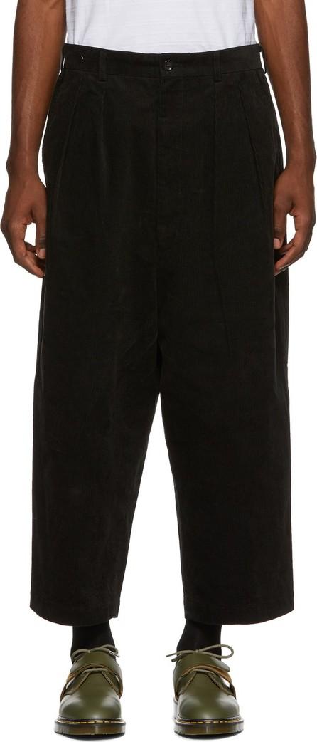 Comme des Garçons Homme Black Wide Corduroy Trousers