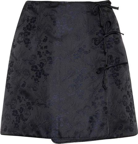 Alexachung Mini Bow jacquard mini skirt