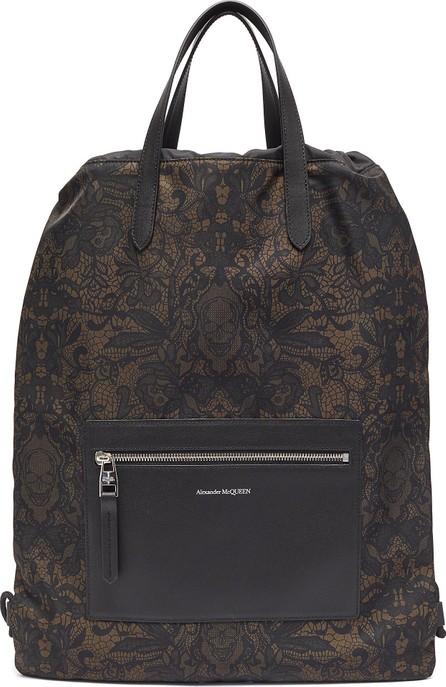 Alexander McQueen Skull lace print drawstring backpack