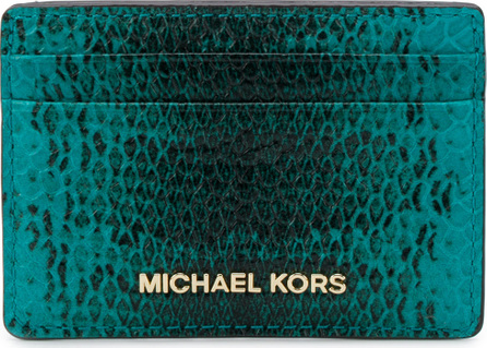 MICHAEL MICHAEL KORS Snake-embossed card holder