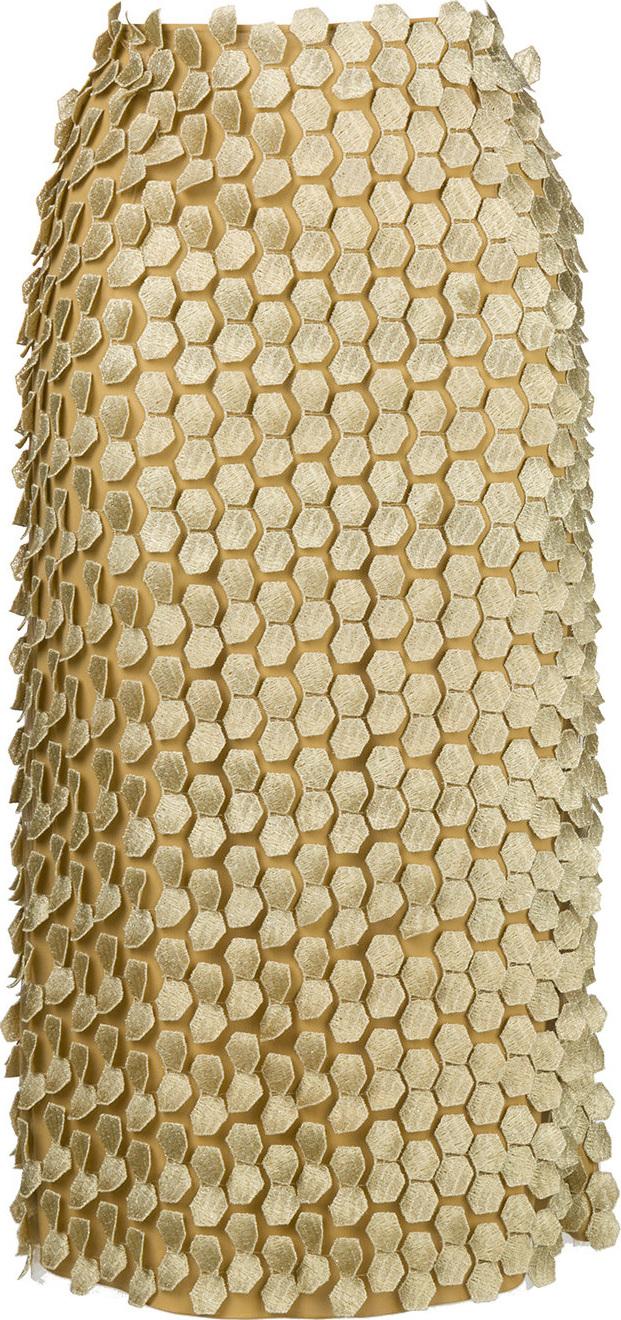 Alberta Ferretti - Appliqué detailed pencil skirt