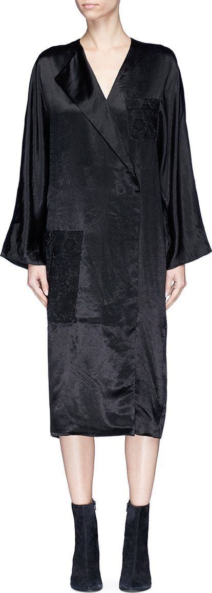 Acne Studios 'Dalma' mock wrap satin dress