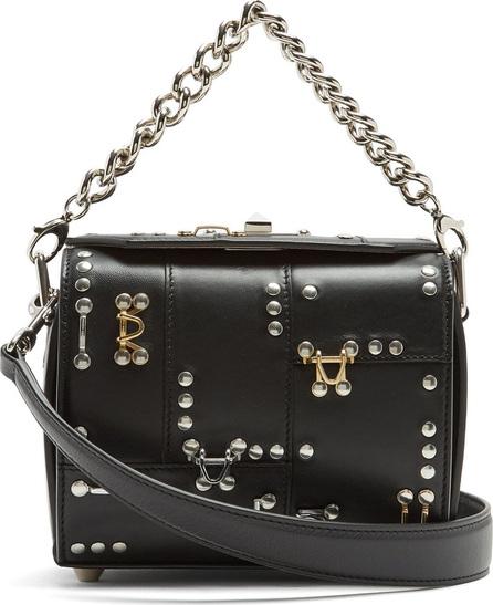 Alexander McQueen Box Bag 19 stud-embellished leather shoulder bag