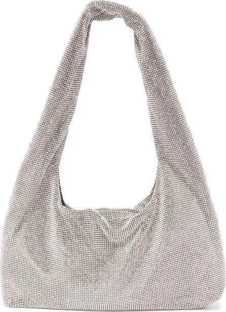 KARA Crystal mesh shoulder bag
