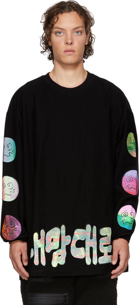 99% Is Black Handmade Silkscreen Long Sleeve T-Shirt