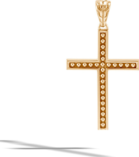 John Hardy Men's Classic Chain 18k Cross Pendant