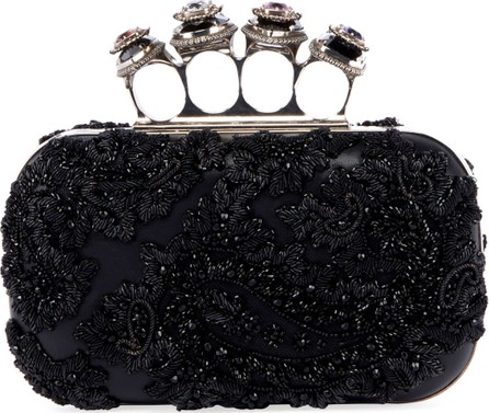 Alexander McQueen Jeweled Four Ring Clutch Bag