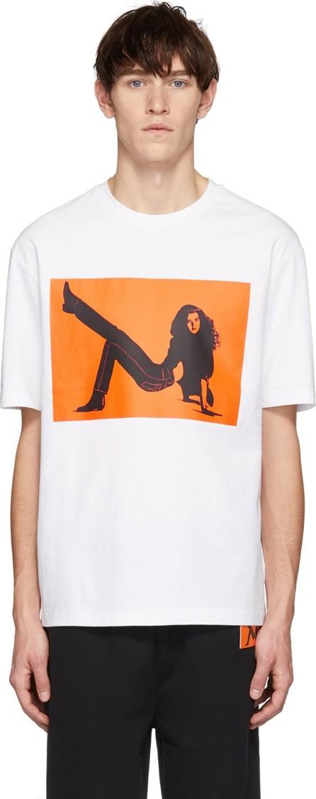 Calvin Klein Jeans White & Orange Icon Printed T-Shirt