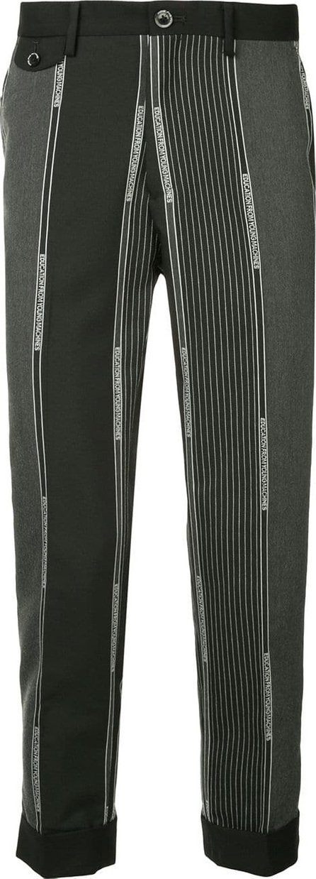 Education From Youngmachines Branding stripes tailored trousers
