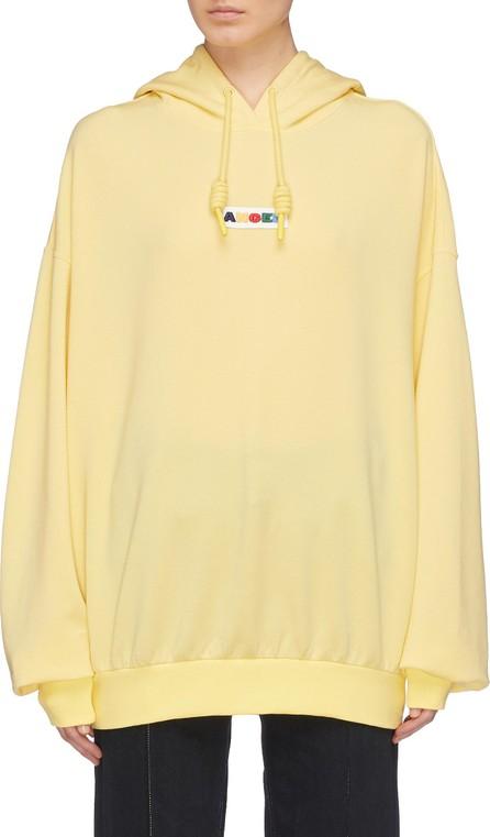 Angel Chen Logo patch oversized hoodie