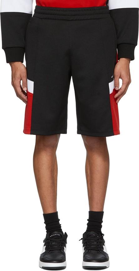 Givenchy Black & Red Logo Sweat Shorts