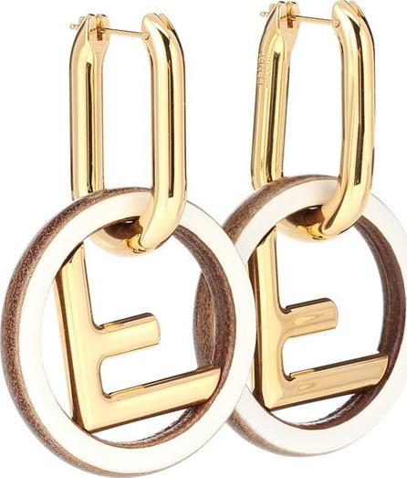 Fendi Leather and metal earrings