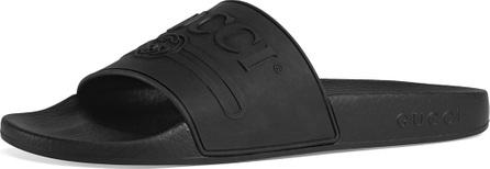 Gucci Pursuit Logo Rubber Pool Slide Sandal