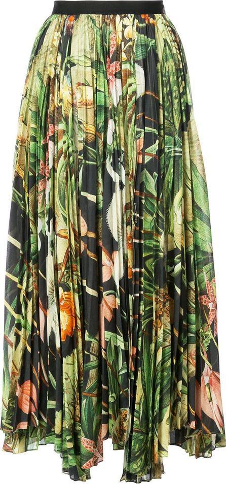 Adam Lippes printed pleated skirt