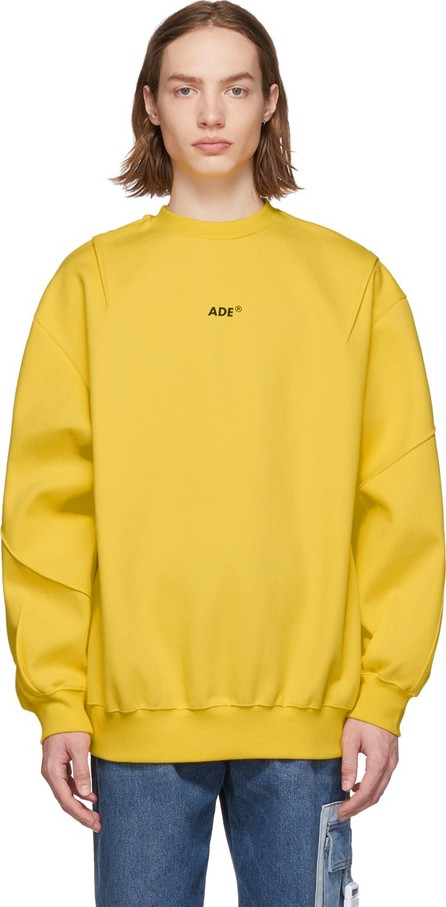 ADER error Yellow Small Logo Sweatshirt