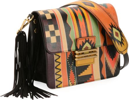 Etro Rainbow Western Printed Leather Shoulder Bag