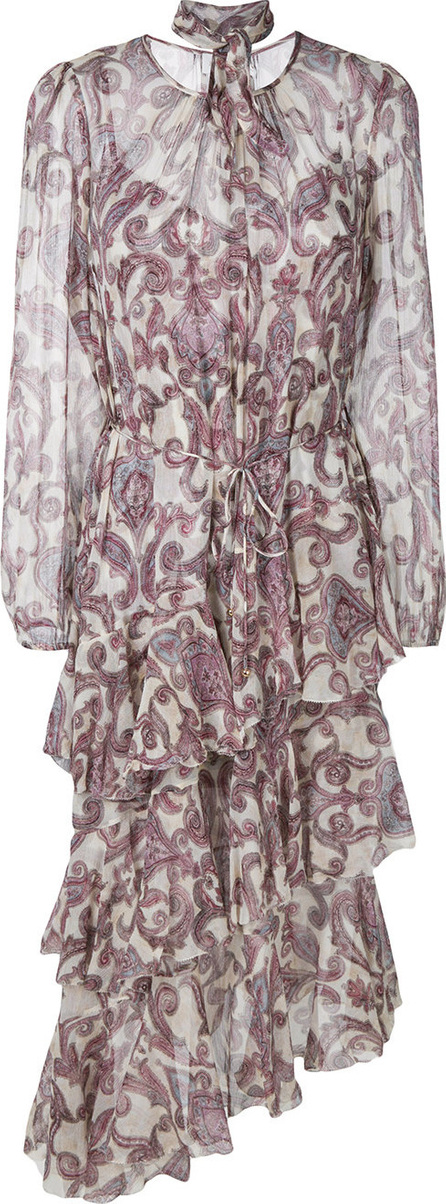 Zimmermann Printed tiered asymmetric dress