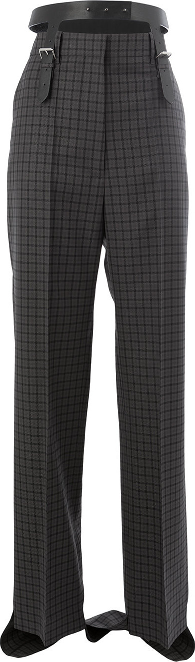Vera Wang Checked flared trousers