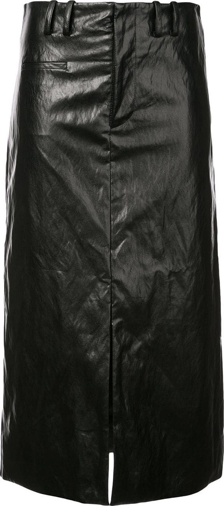 NOMIA High waisted patent skirt