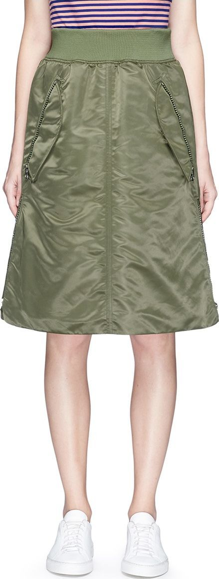 Acne Studios 'Sharne' padded bomber skirt