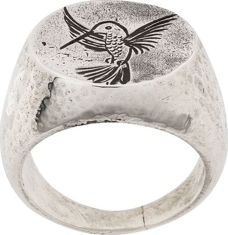 Henson Engraved hummingbird ring
