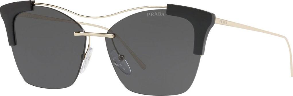 e0bef624664 Prada Monochromatic Semi-Rimless Butterfly Sunglasses.  370  259. Neiman  Marcus