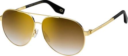 MARC JACOBS Mirrored Metal Aviator Sunglasses