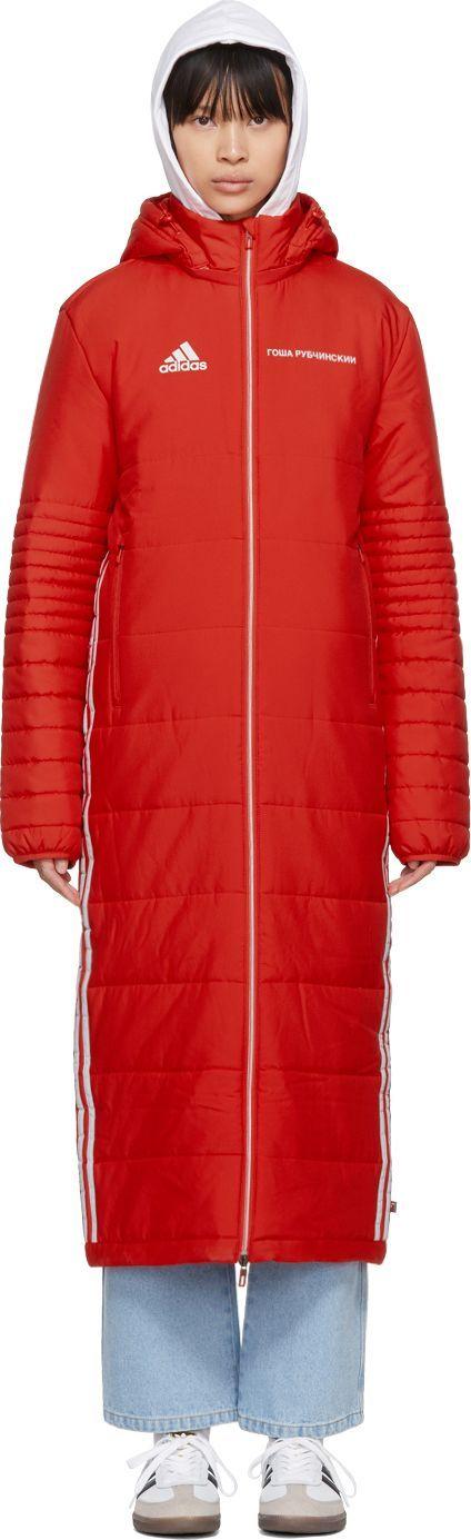 Gosha Rubchinskiy Red adidas Originals Edition Wind Coat
