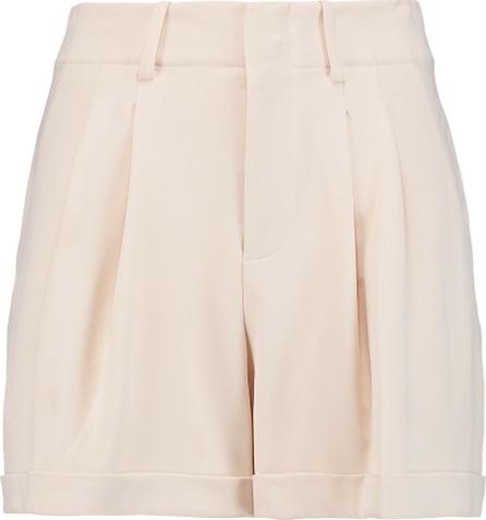 Alice + Olivia Amani pleated crepe mini shorts