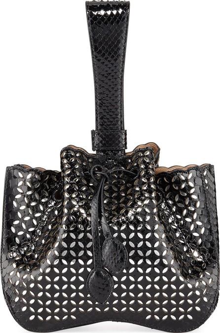 Alaïa Python Wristlet Bucket Bag