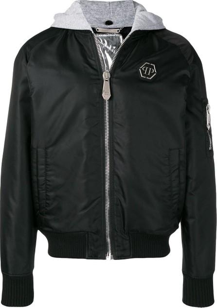 Philipp Plein Removable hood bomber jacket