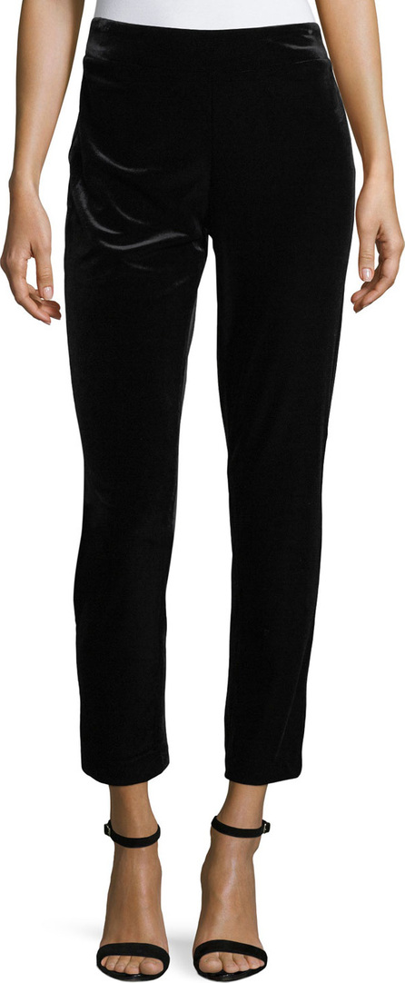 NYDJ Straight-Leg Velvet Ankle Pants