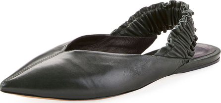 Isabel Marant Linta Pointed-Toe Leather Slingback Flat