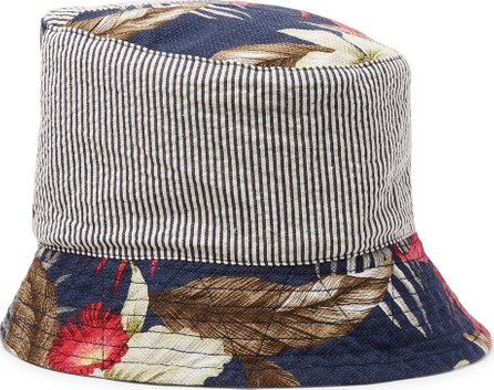 Engineered Garments Patchwork Printed Cotton Bucket Hat