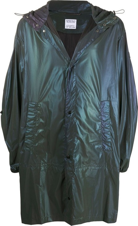 Marcelo Burlon Iridescent lightweight raincoat