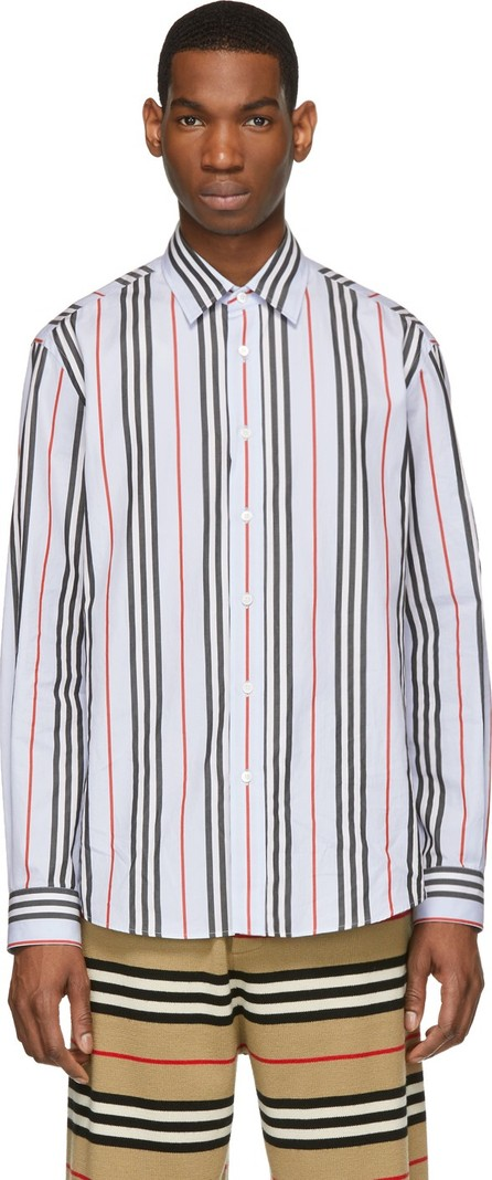 Burberry London England Blue Striped Icon Runway Shirt