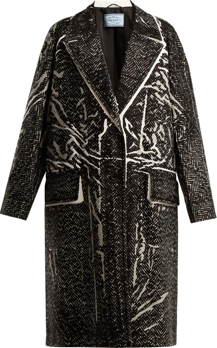 Prada Herringbone-print cotton coat
