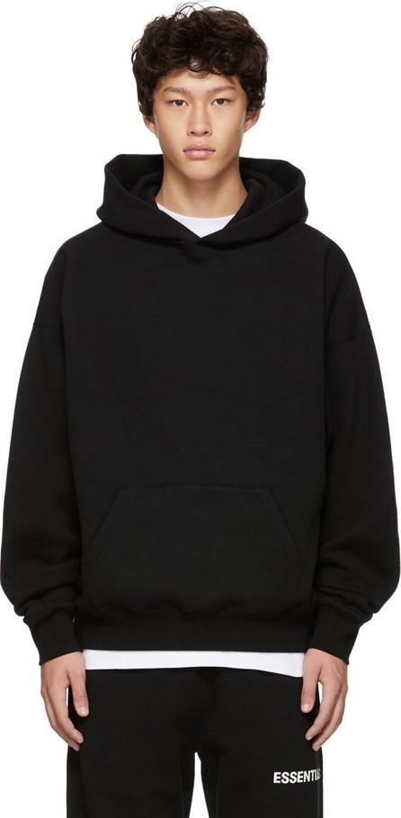 Essentials Black Logo Pullover Hoodie