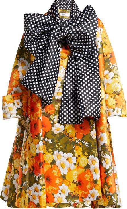 Richard Quinn Floral polka-dot duchess-satin coat