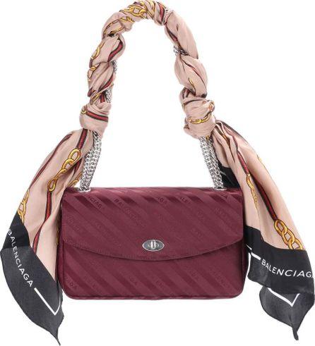 Balenciaga Lock M jacquard shoulder bag