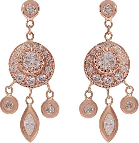Jacquie Aiche Dreamcatcher diamond & rose-gold earrings