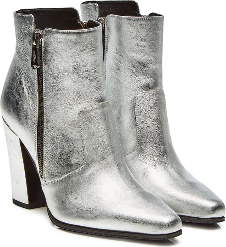Balmain Anthea Metallic Leather Ankle Boots