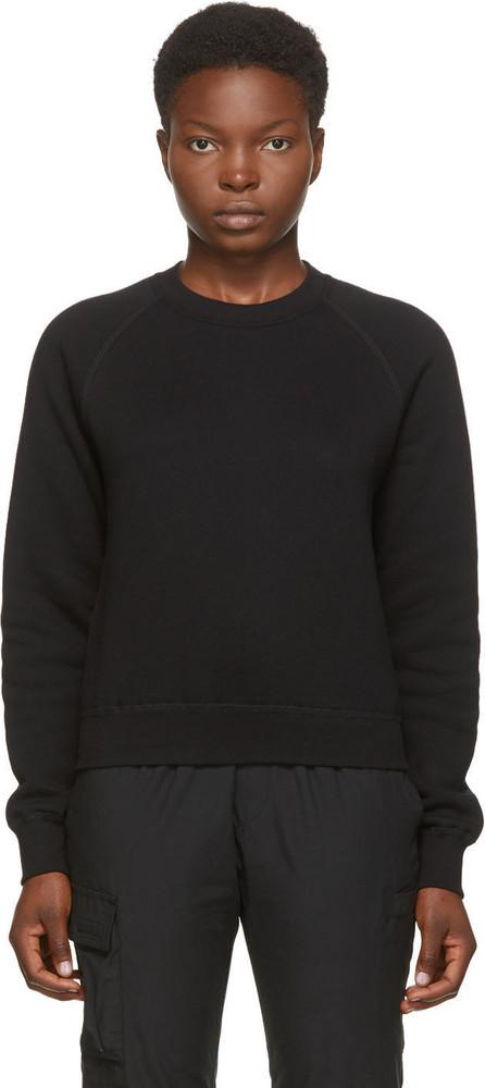 John Elliott Black Vintage Fleece Sweatshirt